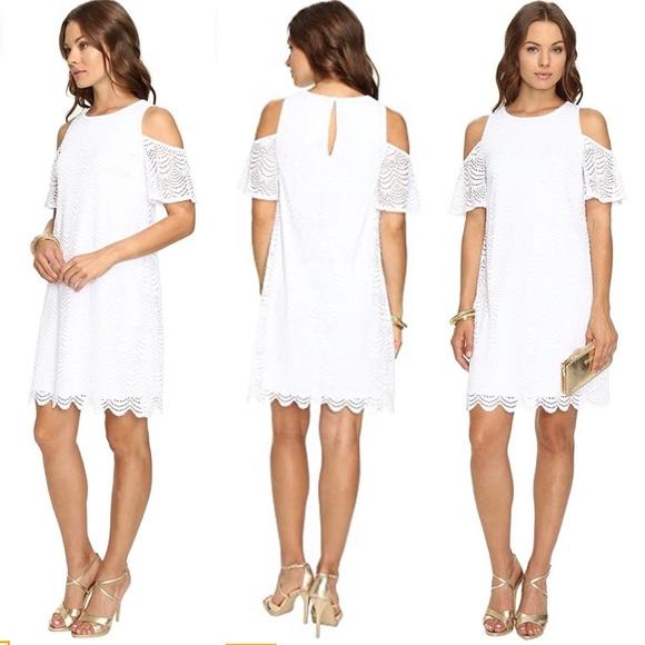 Lilly Pulitzer Somerset Lace Dress White Sz XS NEW